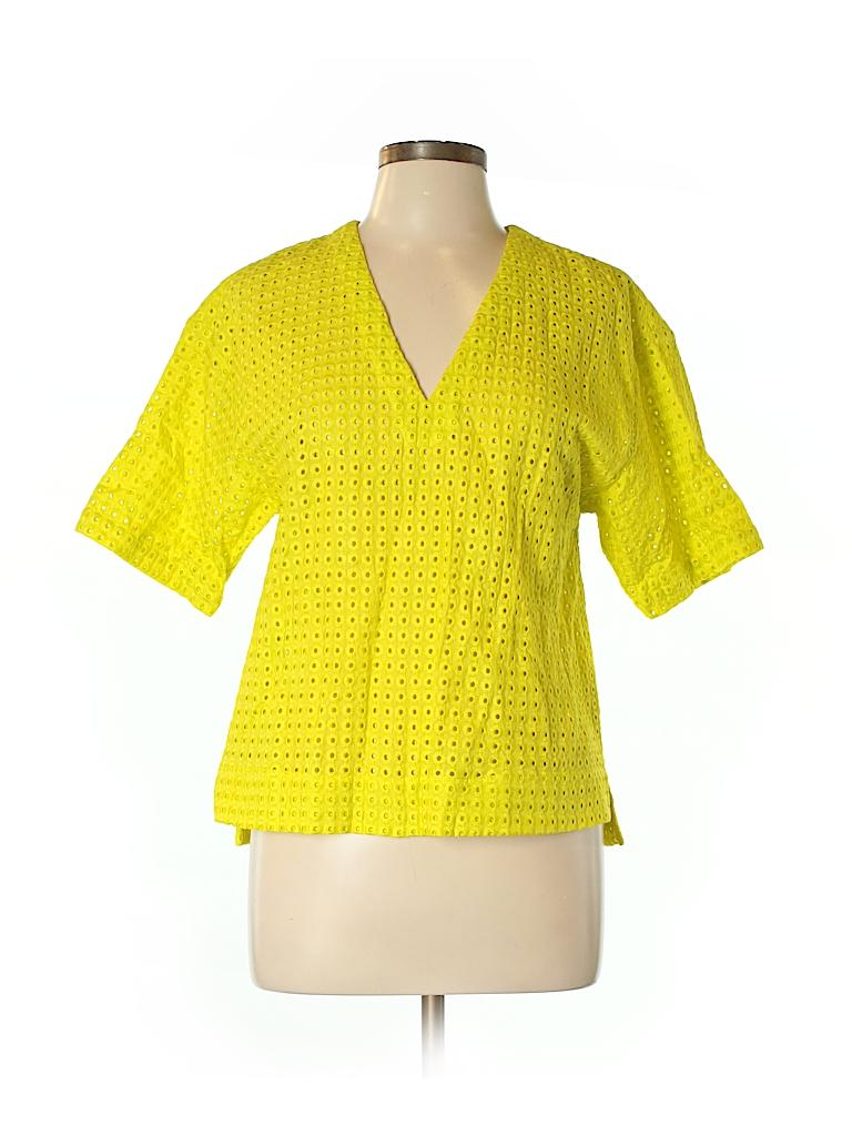 Theory Women Short Sleeve Blouse Size S
