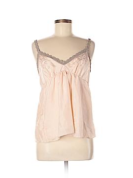 Gold Hawk Sleeveless Silk Top Size M