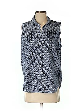 Frank & Eileen Sleeveless Button-Down Shirt Size S