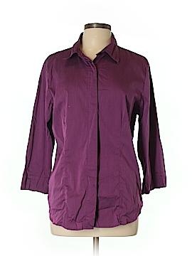Jessica Holbrook 3/4 Sleeve Button-Down Shirt Size L