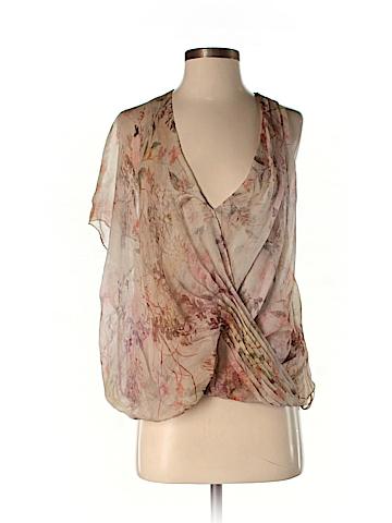 Haute Hippie Short Sleeve Silk Top Size S