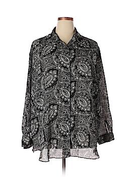 Diane von Furstenberg Long Sleeve Blouse Size 2X - 3X (Plus)