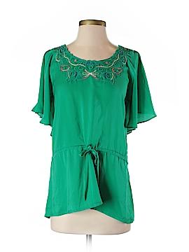 Janet Paris Short Sleeve Blouse Size S