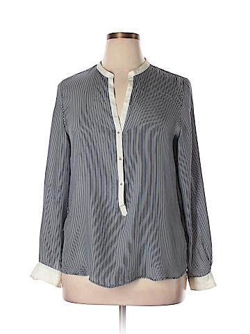 Zara Long Sleeve Silk Top Size XL