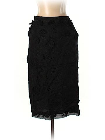 Oscar De La Renta Silk Skirt Size 6