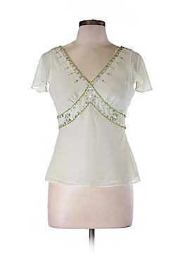 Jessica Howard Short Sleeve Blouse Size 10 (Petite)