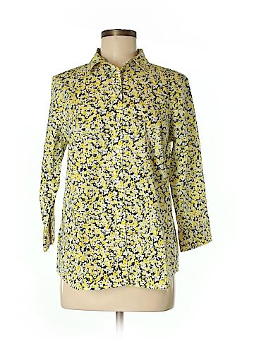 Jones New York Signature Long Sleeve Button-Down Shirt Size M