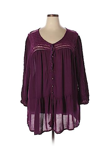Denim 24/7 3/4 Sleeve Blouse Size 28 W (Plus)