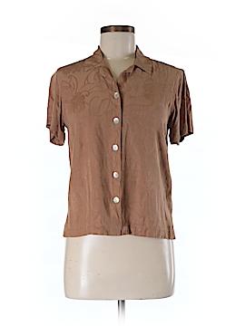 Jamaica Bay Short Sleeve Silk Top Size S