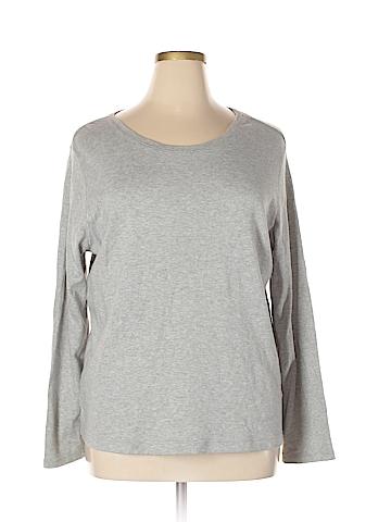 Basic Editions Long Sleeve T-Shirt Size 1X (Plus)