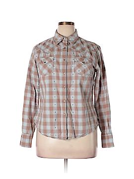 Cruel Girl Long Sleeve Button-Down Shirt Size XL