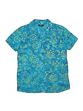 Krazy Kat Short Sleeve Button-Down Shirt Size S