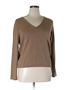 Linda Allard Ellen Tracy Cashmere Pullover Sweater Size X (Plus)