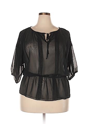Mossimo Short Sleeve Blouse Size XXL