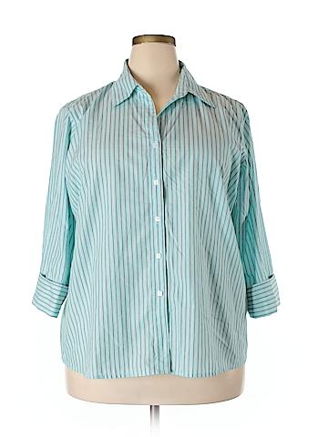 DressBarn 3/4 Sleeve Button-Down Shirt Size 18 - 20 (Plus)