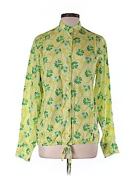 Malo Long Sleeve Silk Top Size 46 (EU)