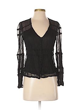 Max Azria Long Sleeve Silk Top Size XS