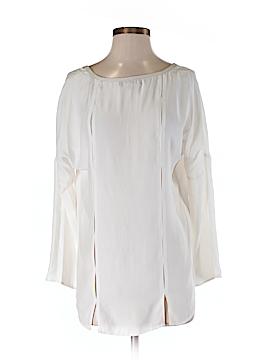 David Lerner Long Sleeve Silk Top Size M