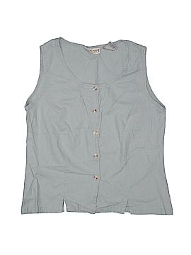 Stephanie Rogers Sleeveless Button-Down Shirt Size M