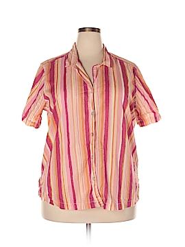 Caribbean Joe Short Sleeve Button-Down Shirt Size 2X (Plus)