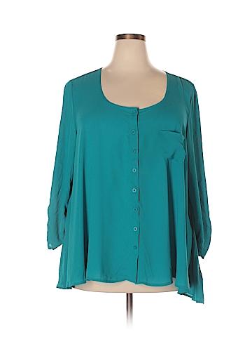 Valerie Stevens 3/4 Sleeve Blouse Size 3X (Plus)