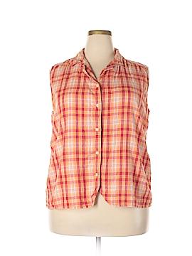 Faded Glory Sleeveless Button-Down Shirt Size 22W (Plus)