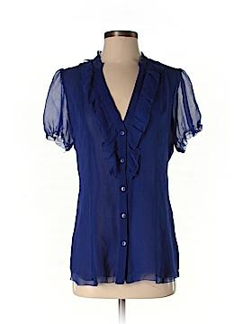 Sanctuary Short Sleeve Silk Top Size S
