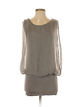Prontomoda Giusy Sleeveless Silk Top Size S