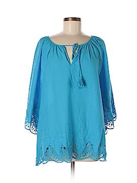 DG^2 by Diane Gilman 3/4 Sleeve Blouse Size L
