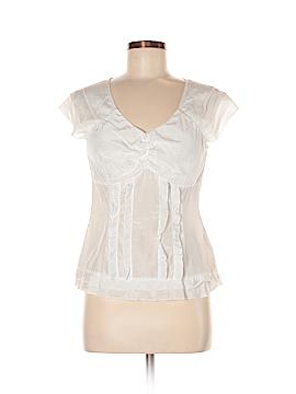 Willi Smith Short Sleeve Silk Top Size M