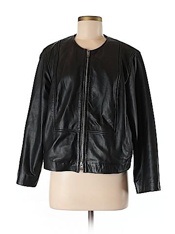J. Crew Leather Jacket Size 10