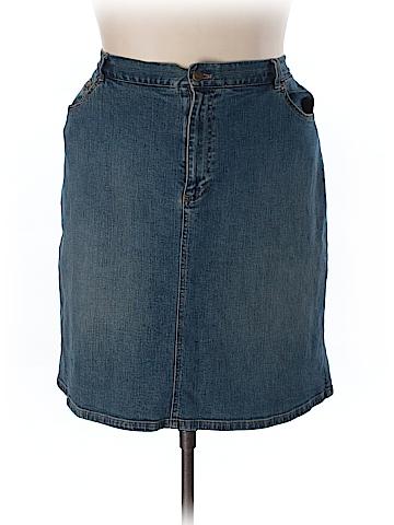 Jones New York Denim Skirt Size 18W (Plus)