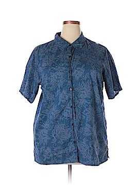 White House Black Market Short Sleeve Button-Down Shirt Size 18 - 20 (Plus)