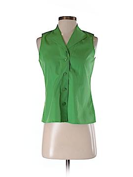 Jones New York Collection Sleeveless Button-Down Shirt Size 2 (Petite)