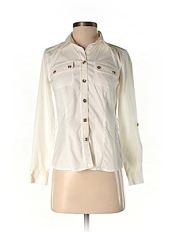 Alfani Long Sleeve Button-Down Shirt Size 2