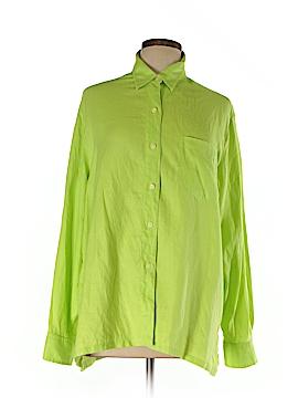 Evan Picone Long Sleeve Button-Down Shirt Size L