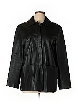 Brooks Faux Leather Jacket Size L