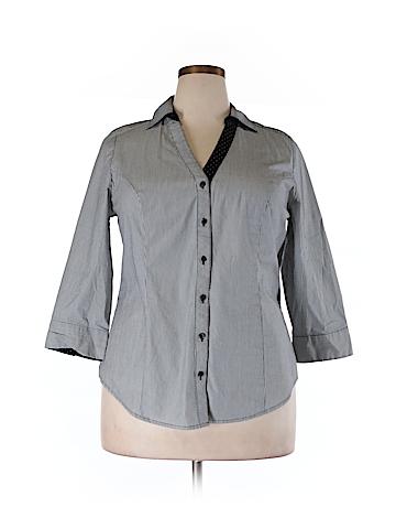 Lane Bryant 3/4 Sleeve Button-Down Shirt Size 16 (Plus)