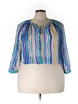 Ellen Tracy Long Sleeve Blouse Size XL