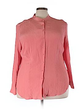 Emma James Long Sleeve Silk Top Size 20 (Plus)