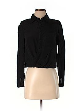 Stella & Jamie Long Sleeve Silk Top Size XS