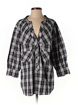 C&C California 3/4 Sleeve Button-Down Shirt Size M