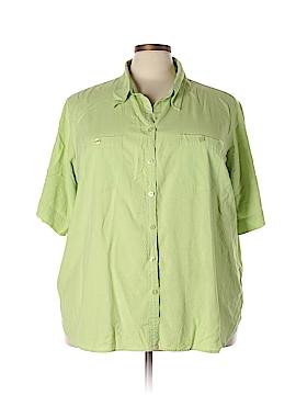 Fashion Bug Short Sleeve Button-Down Shirt Size 30 - 32 (Plus)