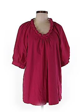 VAVA by Joy Han Short Sleeve Blouse Size M