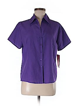 BonWorth Short Sleeve Button-Down Shirt Size XS (Petite)