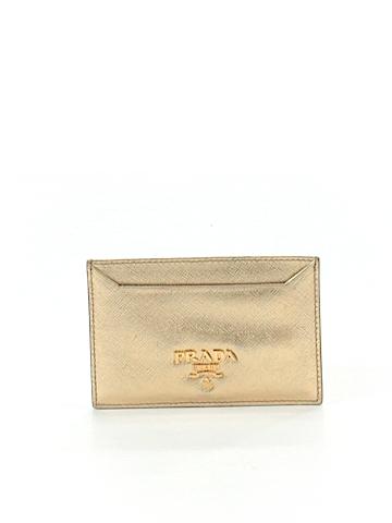Prada Leather Card Holder One Size