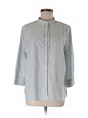 Lands' End 3/4 Sleeve Button-Down Shirt Size L