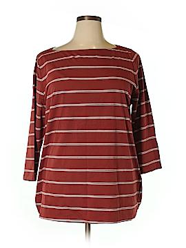Ava & Viv 3/4 Sleeve T-Shirt Size 1X (Plus)