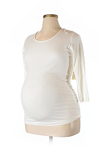 Three Seasons Maternity 3/4 Sleeve Top Size XL (Maternity)
