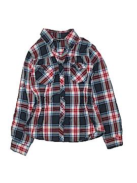 Fashion Web Long Sleeve Button-Down Shirt Size L